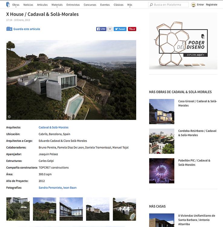 Casa x en plataforma arquitectura sandra pereznieto for Plataforma arquitectura