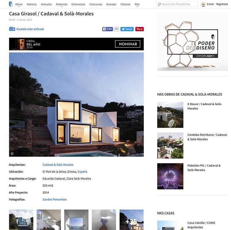 Casa Girasol en Plataforma Arquitectura 02-2016